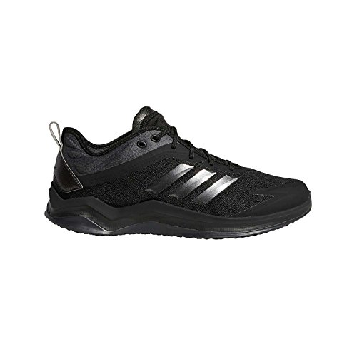 adidas Men's Speed Trainer 4 Baseball Shoe, Black/Night Metallic/Carbon, 10.5 Wide - Softball Wide Cleats