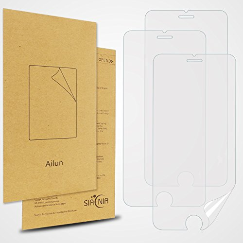 Ailun Screen Protector Compatible with iPhone 6S,iPhone 6 [3-Pack][4.7 inch],3D Touch Compatible,HD Premium PET,Ultra Clear,Anti-Scratch- Siania Retail Package