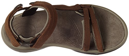 Teva W Terra Fi Lite Leather, Zapatillas de Atletismo para Mujer Marrón (Brown BRN)