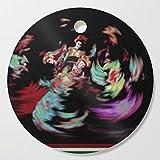 Society6 Wooden Cutting Board, Round, Folk Dance by torul