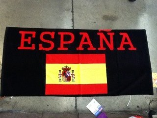 FIFA World Cup National SPAIN Soccer Team Beach Towel by World Cup Soccer Team