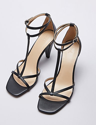 Black Sandal Chiusura T Nero con Cone a FIND Scarpe Donna SaTnqvOazx