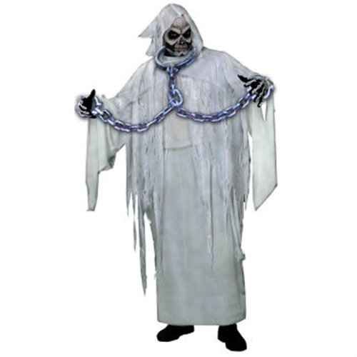 Neck & Arm Silver Link Prisoner Shackles Costume Accessory