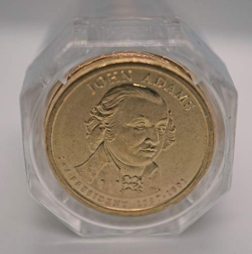 Adams Dollar Roll - 2007 D Adams Presidential Dollar First Day of Issue Sealed Roll of 20 Coins Brilliant Uncirculated