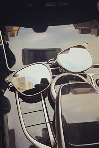 Men Miss fang Kuang Couple Lover Fashion Metal Ink Color Film Maker Tide Brand Sunglasses (Lens