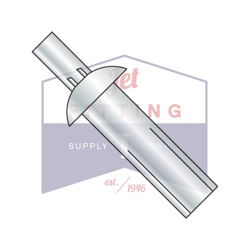 3/8X3/16 Drive Pin Rivets | All Steel | Universal Head | Body: 1006 Steel with Zinc Plate or equivalent | Pin: 1008 Steel with Zinc Plate or equivalent (QUANTITY: 1000) by Jet Fitting & Supply Corp
