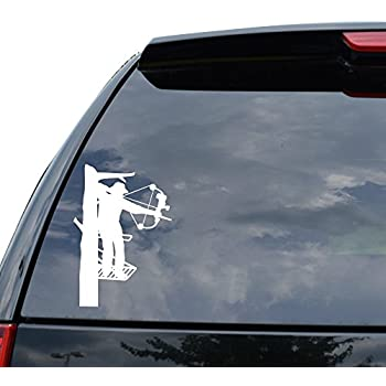 Amazoncom D Silent Entry Deer Hunting Bowhunting Decal For - Bow hunting decals for trucks