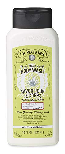 J.R. Watkins Daily Moisturizing Aloe and Green Tea Body Wash, 18 Ounce (Jr Watkins Aloe And Green Tea Shampoo)