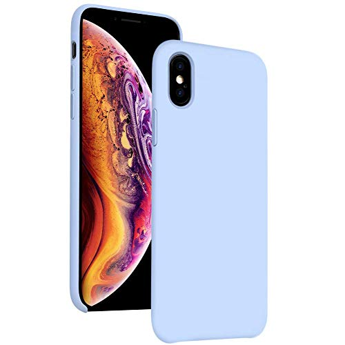 iPhone Xs Max Case Silicone 6.5 inch Compatible with Apple 2018,DIACLARA Gel Rubber Cases with Microfiber Cloth Lining Cushion for Apple (Purple)