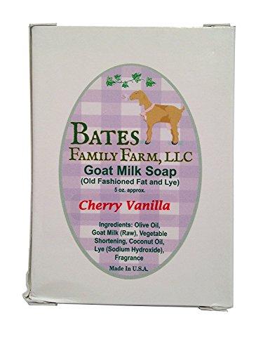 Bates Family Farm Goat Milk Soap (Cherry Vanilla Fragrance)
