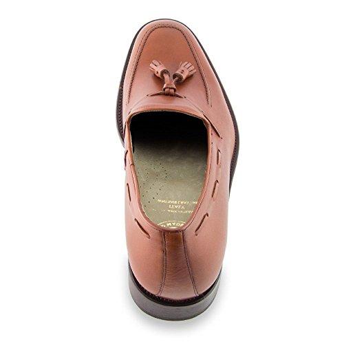Masaltos Semelle Homme Réhaussantes Augmentant 7cm Modèle Jusqu'à La Avec Chaussures Valentno Taille Pour Marron En Peau Fabriquées xwx1q4p