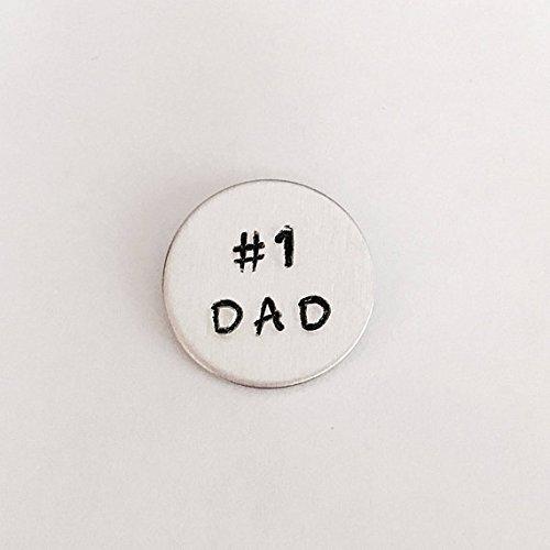 Dad tie tack - tie pin - Father - best dad - #1 dad tie tack - handstamped by SimplyDeborah