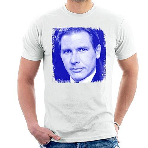 Harrison Ford Blue Portrait Men's T-Shirt
