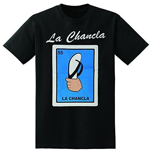 Mexican Loteria La Chancla Black T-Shirt Funny (large)