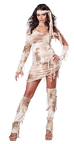 Mummy Costumes - California Costumes Women's Mystical Mummy Sexy Horror Costume, Tan, Medium