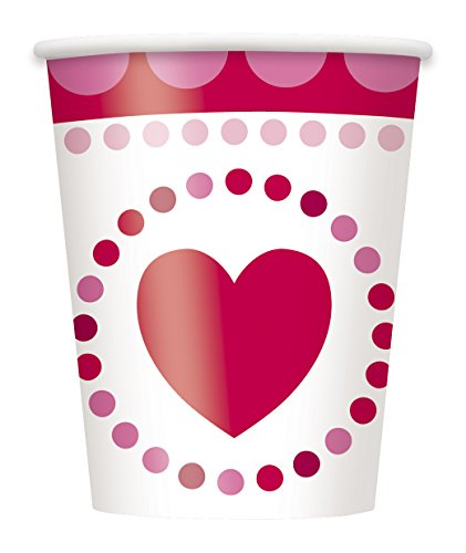 9oz Radiant Hearts Valentine's Day Party Cups, 8ct