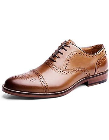 7adb6769 Desai Zapato Piel Brogue con Cordones Oxford para Hombre