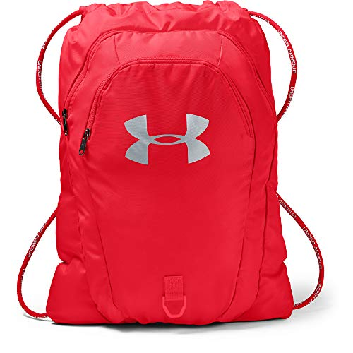 Under Armour Undeniable 2.0 Sackpack, Red (600)/Silver, One Size Fits All (Cinch Pack Under Armour)