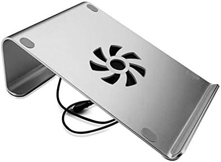 Soporte para computadora portátil con Ventiladores de Aluminio Soporte de Aluminio Soporte Giratorio ergonómico Compatible con Macbook Pro, ...