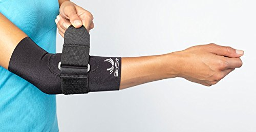 BioSkin Tennis Elbow Brace - Elbow Compression Sleeve with Support Strap and Gel Pad - For Tennis Elbow and Golfer's Elbow and Tendinitis (L) by BioSkin (Image #2)