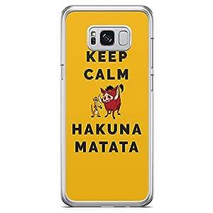 Loud Universe Keep Calm Lion King Samsung S8 Case Hakuna Matata Samsung S8 Cover with Transparent Edges