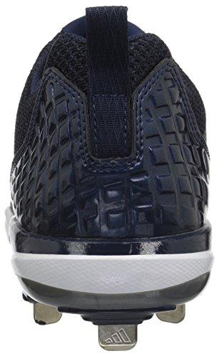 adidas Originals Men's Freak X Carbon Mid Baseball Shoe Collegiate Navy, Silver Met., Ftwr White