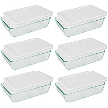 Amazoncom Pyrex 3 cup Rectangle Glass Food Storage Containers With
