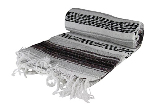 KAYSO Authentic 6' x 5' Mexican Siesta Blanket (Grey) from KAYSO