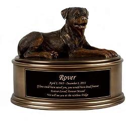 Perfect Memorials Custom Engraved Rottweiler Figurine Cremation Urn