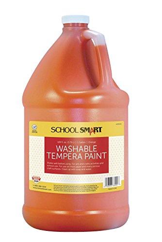 School Smart Washable Tempera Paint - Gallon - Orange
