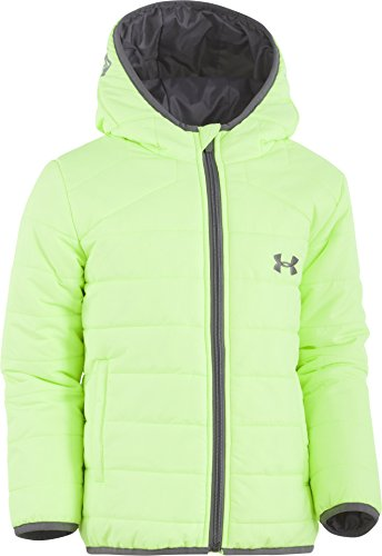 Under Armour Little Boys' Feature Puffer Jacket, Quirky Lime, 5