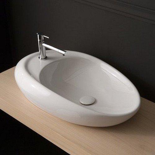 Scarabeo 8602-One Hole-637509864385 Decorative Bathroom Sink Vessel White