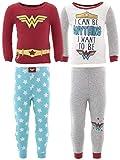 DC Comics Little Girls' Wonder Woman Cotton 2-Pack Pajamas 4T