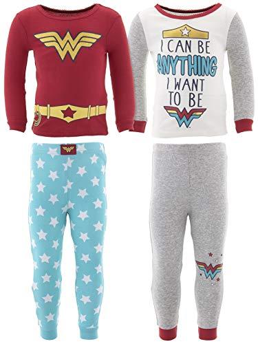 DC Comics Little Girls' Wonder Woman Cotton 2-Pack Pajamas 2T ()
