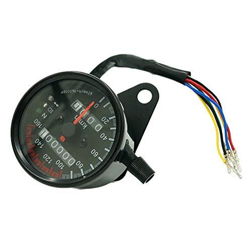 YSHtanj Motorcycle Electronics Speedometer Universal Motorcycle Motorbike Dual Speedometer Odometer Backlight Speed Meter - Black: Amazon.co.uk: Lighting