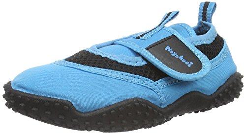 PlayshoesAquaschuhe, Badeschuhe Neonfarben mit höchstem UV-Schutz nach Standard 801 - Zapatillas Impermeables Niños-Niñas Azul - Blau (blau 7)