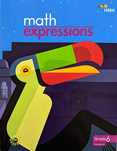 Math Expressions, Grade 6 Volume 1 Student Activity Book, 9781328743855, 1328743853