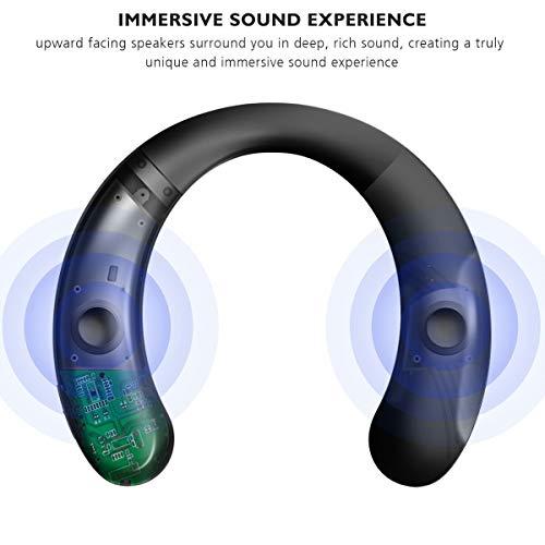 Ear&Ear Bs07 Bluetooth Speakers, 3D Stereo Quality Sound Neckband Wearable Wireless Speaker Built-In Mic Handsfree Call Wireless Portable Speaker Bluetooth 8-10Hours Playing Time Speaker Earphone