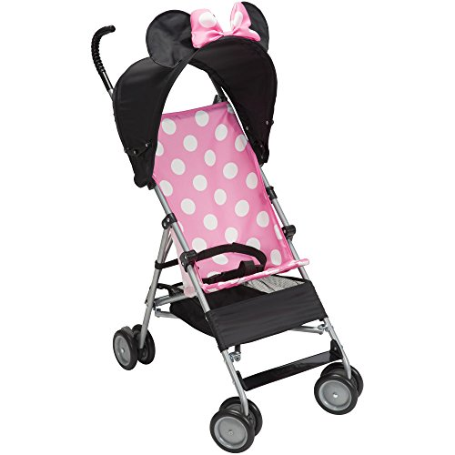 Disney Pink Umbrella Stroller with Basket