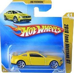 Hot Wheels 2009 2010 Ford Mustang GT Hw Premiere #41 (Yellow) Short Card