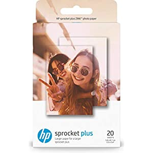 HP Sprocket Plus Photo Sticky Backed Sheets, (Pack of 20)