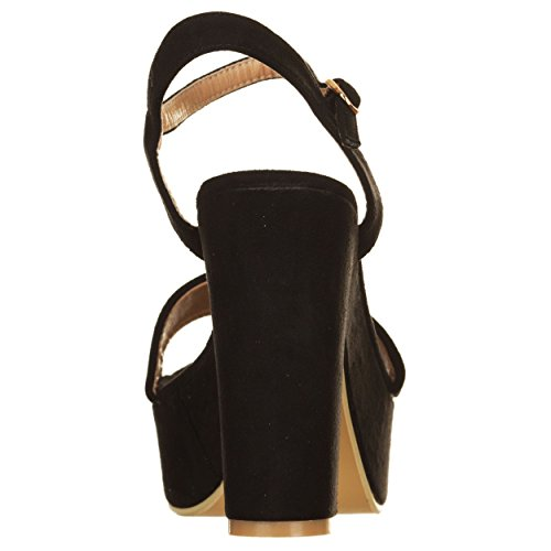 Refresh  Ref-63602cmne_40, Damen Sandalen schwarz schwarz 40