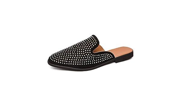 705108cfe8986 Amazon.com: HONGkeke Men's Casual Slip-on Half Loafers for Men ...