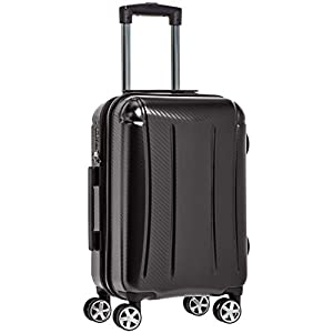 AmazonBasics Oxford Carry-On Expandable Spinner Luggage Suitcase with TSA Lock – 21.8 Inch, Black