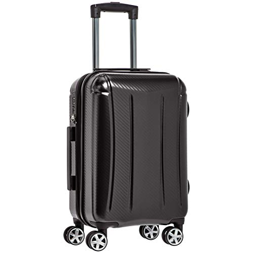 AmazonBasics Oxford Carry-On Expandable Spinner Luggage Suitcase with TSA Lock - 20 Inch, Black