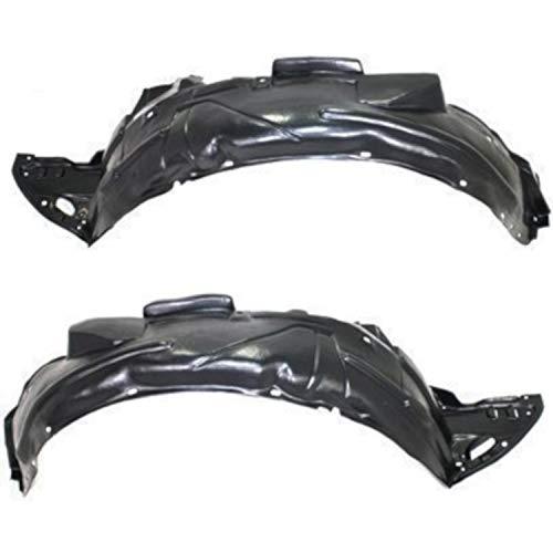 Parts N Go 06-11 Civic Fender Liners Compatible Honda Splash Guard Pair Front Driver & Passenger Side LH/RH Liner - HO1250106, HO1251106, 74101-SVA-A00, 74151-SVA-A00