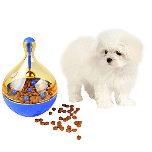 - Luck Dawn Dog Treat Ball, Interactive IQ Treat Dispensing Ball Tumbler Toy for Puppy Cat