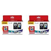 "Canon Fine Cartridge PG-240XL/CL-241XL with Photo Paper Glossy (50 Sheets, 4""x6"") YGBgRA, 2 Pack"
