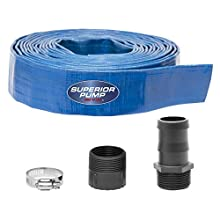 Superior Pump 99621 Lay-Flat Discharge Hose Kit, 5-Piece