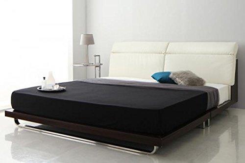 レザーMIXデザインベッド (クイーン/ホワイト) プレミアムポケットコイルマットレス:ホワイト付きセット【AC082467】 B079WXY7R9 フレームカラー:ホワイト クイーン/プレミアムポケットコイルマットレス:ホワイト